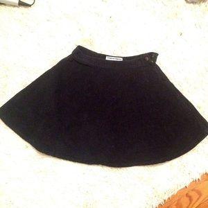 American Apparel Black Corduroy Skirt